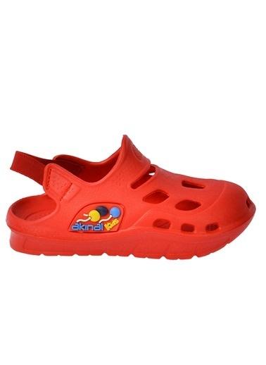 Kiko Kids Kiko Akn E401.000 Plaj Havuz Banyo Kız/Erkek Çocuk Sandalet Terlik Kırmızı